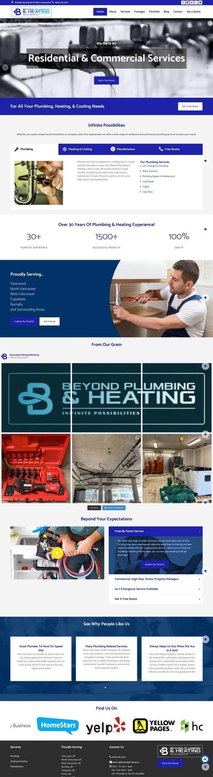 Beyond Plumbing & Heating